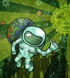 Astronauta no espaço aberto Imagens de Stock Royalty Free