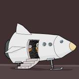 Astronauta Patrzeje Od statku Fotografia Royalty Free