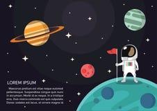 Astronauta prezentacji wektor III royalty ilustracja