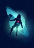 Astronauta que flota en espacio Fotografía de archivo