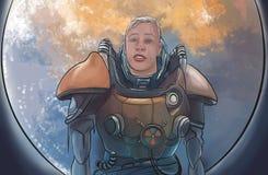 Astronauta selvaggio Immagini Stock Libere da Diritti