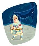 Astronauta su spazio Fotografia Stock