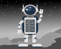 Astronauta in uno spazio cosmico illustrazione vettoriale
