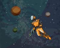 Astronauta w przestrzeni ilustracja wektor