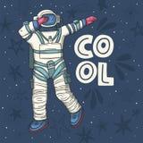 Astronauta, wektorowa ilustracja ilustracja wektor