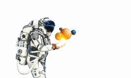 Astronauta y su misión Técnicas mixtas stock de ilustración