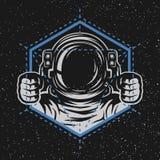 Astronauta z geometrycznym elementem Zdjęcia Royalty Free