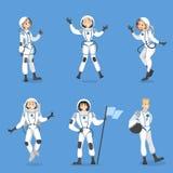 Astronauta zaludniają set ilustracji