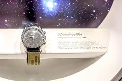 Astronautas del reloj a la luna Foto de archivo
