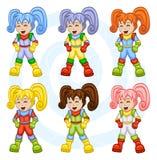 Astronautas dos desenhos animados Imagens de Stock