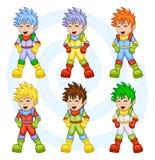 Astronautas dos desenhos animados Imagem de Stock