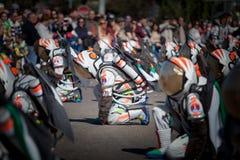 Astronautas en carnaval foto de archivo