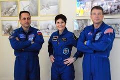 Astronautas en el museo Foto de archivo