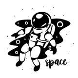 Astronaute au spacewalk Art cosmique, papier peint de la science-fiction Beauté d'espace lointain Photo stock