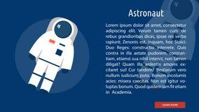 Astronaute Banner Concept illustration de vecteur