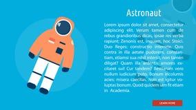 Astronaute Banner Concept illustration libre de droits