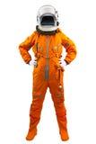 Astronaute d'isolement sur un fond blanc. Images libres de droits