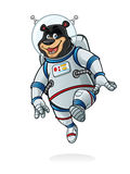 Astronaute d'ours illustration stock