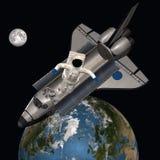 Astronaute dans l'espace extra-atmosphérique Image stock