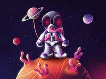 Astronaute dans l'espace illustration libre de droits