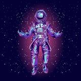 Astronaute dans la combinaison spatiale sur l'espace , photo stock