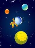 Astronaute de bande dessinée illustration de vecteur