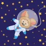 Astronaute de chien illustration libre de droits