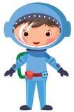 Astronaute de dessin animé Image libre de droits