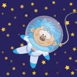 Astronaute de hérisson illustration de vecteur