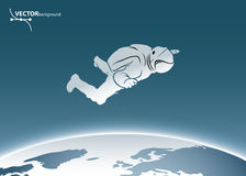 Astronaute de l'espace Photo stock