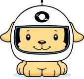 Astronaute de sourire Puppy de bande dessinée Images libres de droits