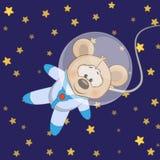 Astronaute de souris illustration de vecteur