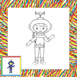 Astronaute drôle de vecteur Images stock