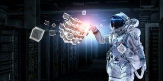 Astronaute et sa mission Media mélangé Photographie stock libre de droits