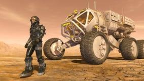 Astronaute et vagabond de l'espace Image stock