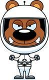 Astronaute fâché Bear de bande dessinée Images libres de droits