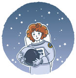 Astronaute féminin illustration stock
