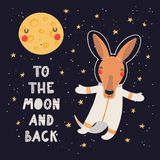 Astronaute mignon de kangourou illustration stock