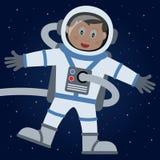 Astronaute ou astronaute dans l'espace extra-atmosphérique illustration de vecteur