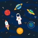 Astronaute, planètes et espace Images stock