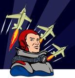 Astronaute recherchant Image stock