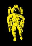 Astronaute Sketch Images libres de droits
