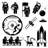 Astronaute Space Exploration Clipart illustration stock
