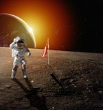 Astronaute sur la lune photo stock