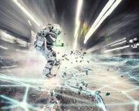 Astronaute sur le conseil de vol Media mélangé Image stock
