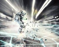 Astronaute sur le conseil de vol Media mélangé Photographie stock libre de droits