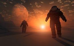 Astronauten vektor illustrationer