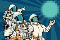 Astronauten Familie, Vatermutter und Kind Lizenzfreies Stockbild