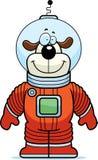 Astronauten-Hund Stockbild