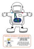 Astronauten-Suit Cut Out-Tätigkeit für Kinder für Geburtstage oder Lernspiele Editable Clipart Lizenzfreie Stockfotos